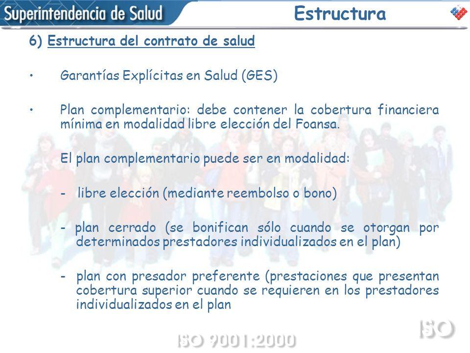 Estructura 6) Estructura del contrato de salud
