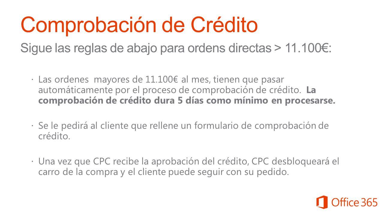 Comprobación de Crédito