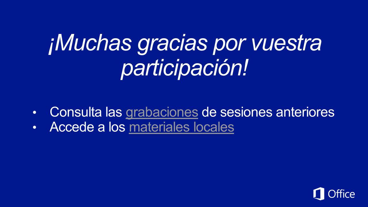 ¡Muchas gracias por vuestra participación!