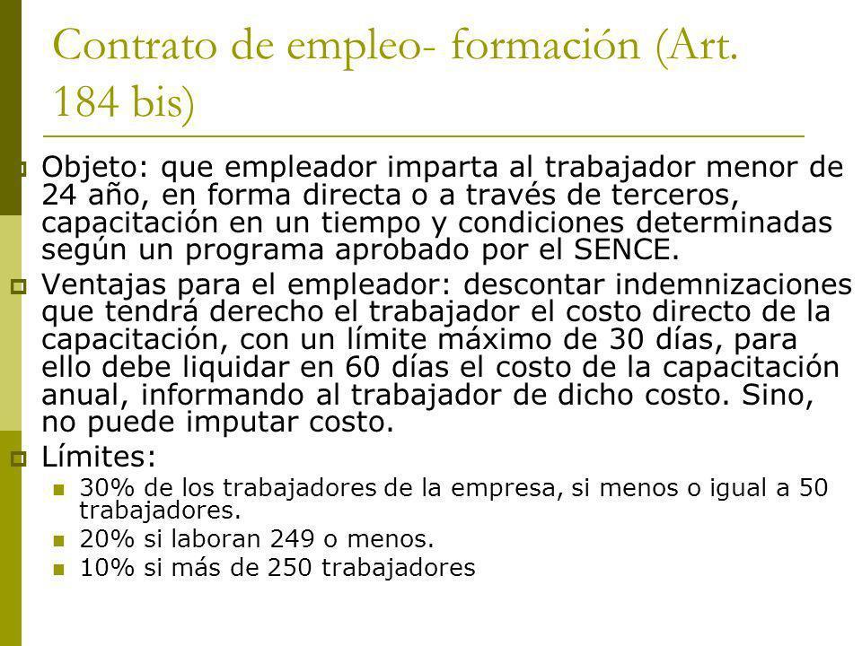 Contrato de empleo- formación (Art. 184 bis)