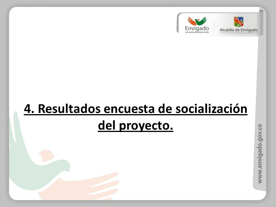 4. Resultados encuesta de socialización del proyecto.