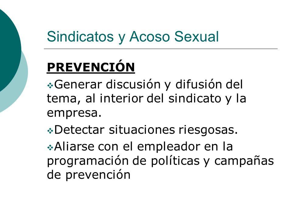 Sindicatos y Acoso Sexual