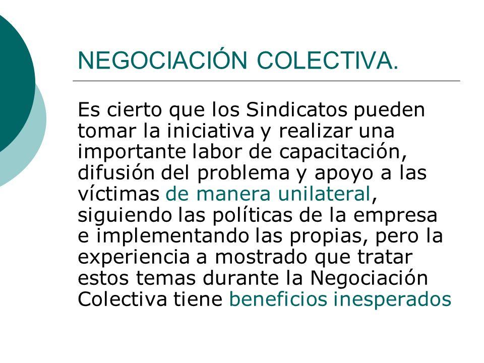 NEGOCIACIÓN COLECTIVA.