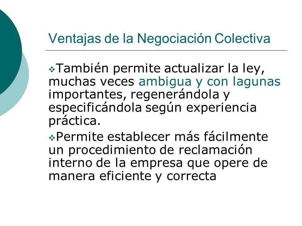 Ventajas de la Negociación Colectiva