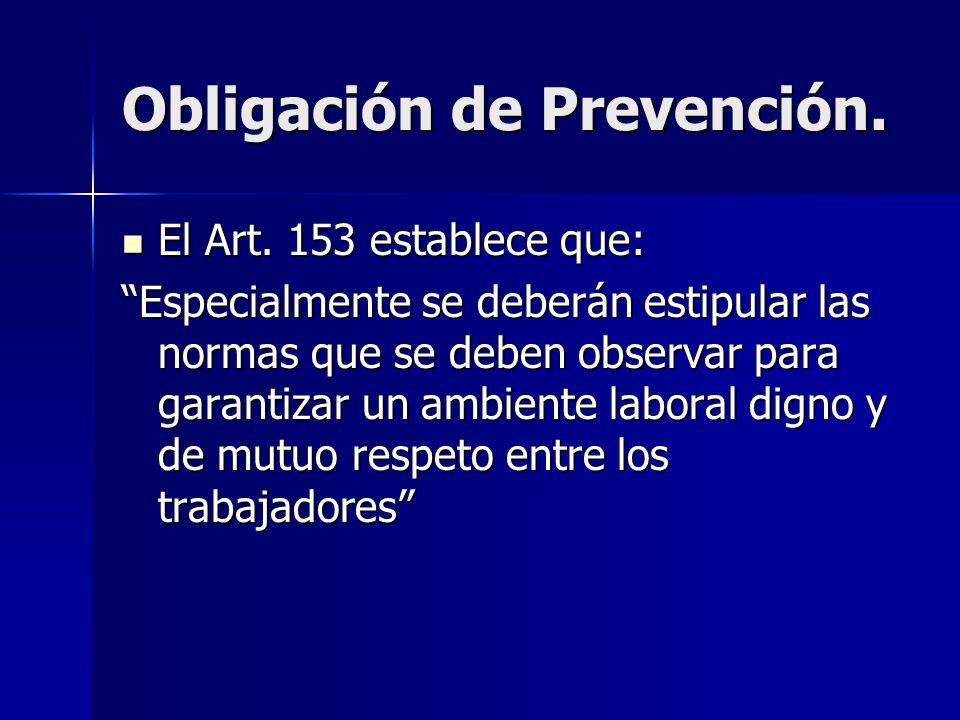 Obligación de Prevención.