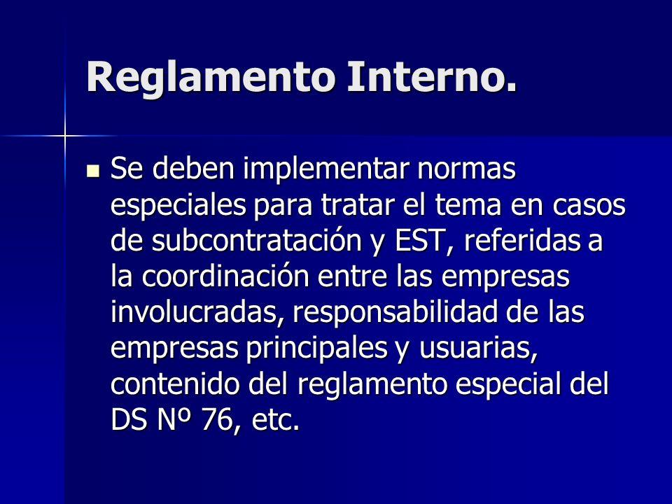 Reglamento Interno.