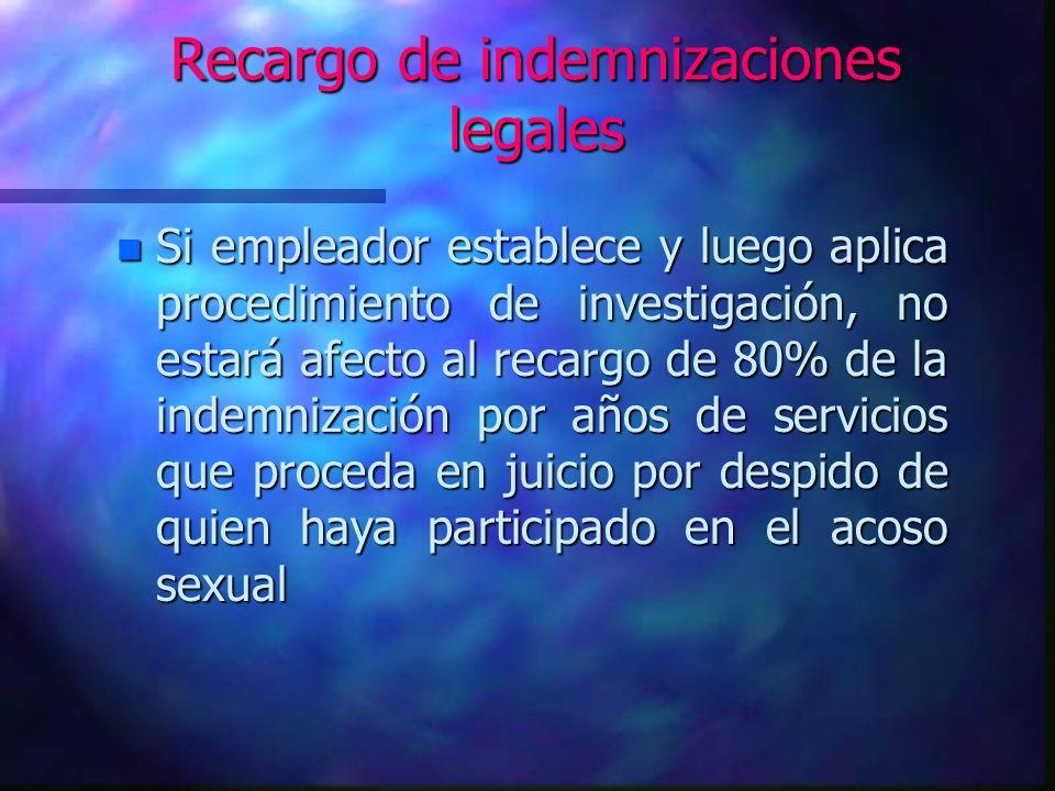 Recargo de indemnizaciones legales