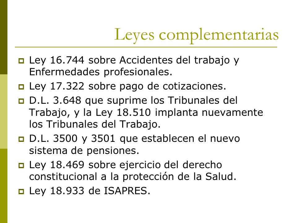 Leyes complementarias