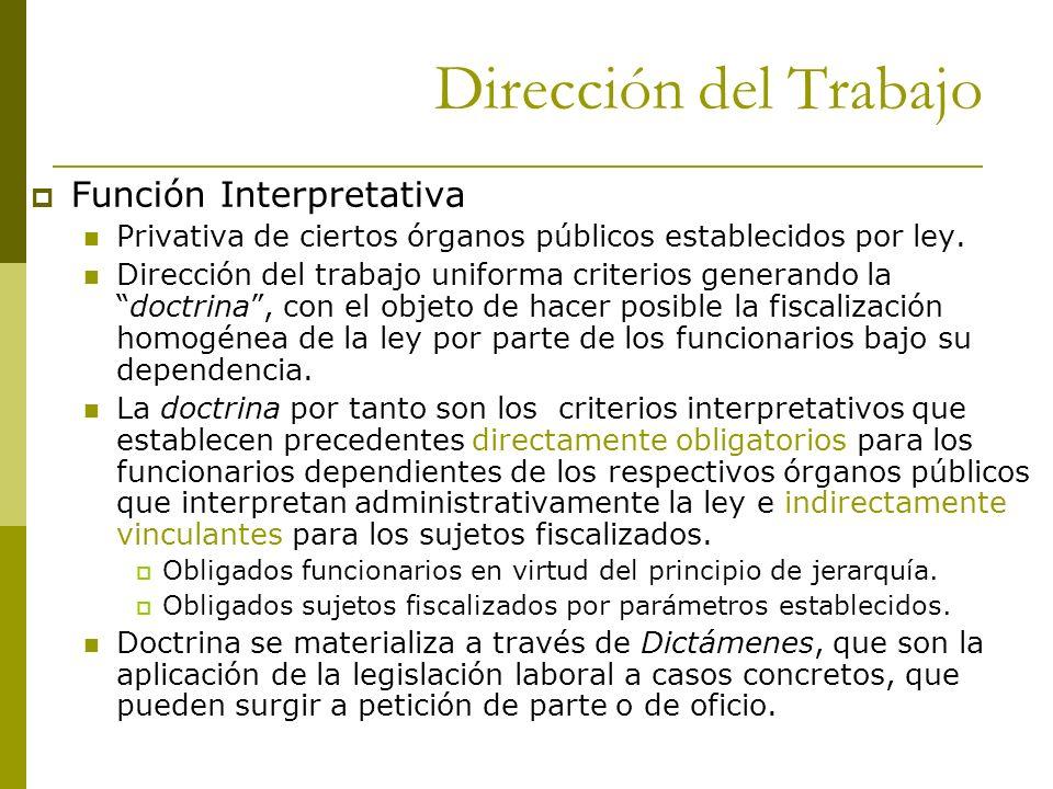 Dirección del Trabajo Función Interpretativa