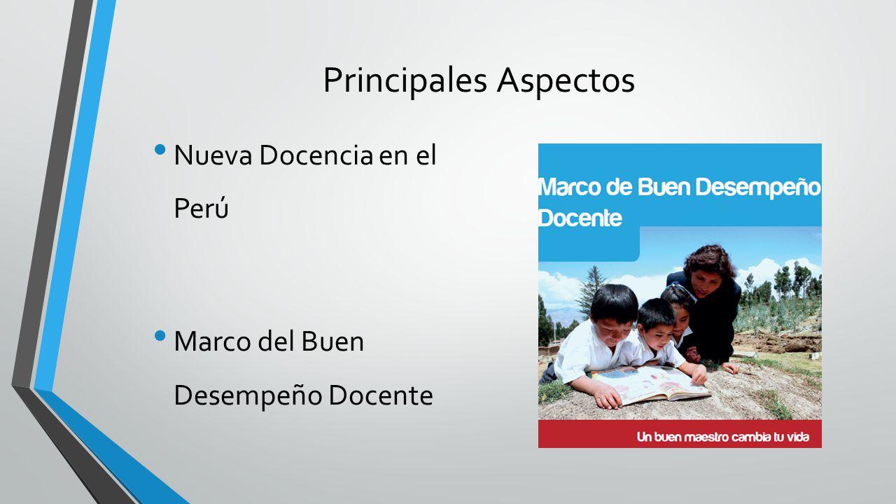 Principales Aspectos Nueva Docencia en el Perú