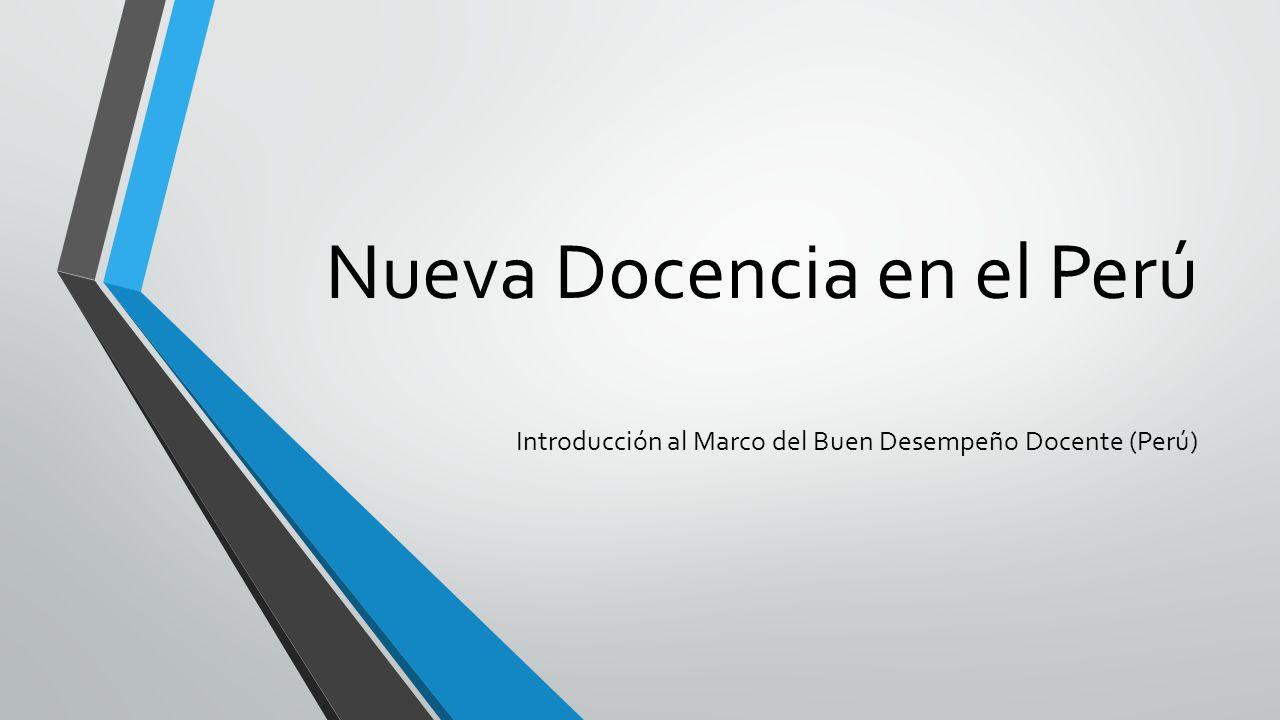 Nueva Docencia en el Perú