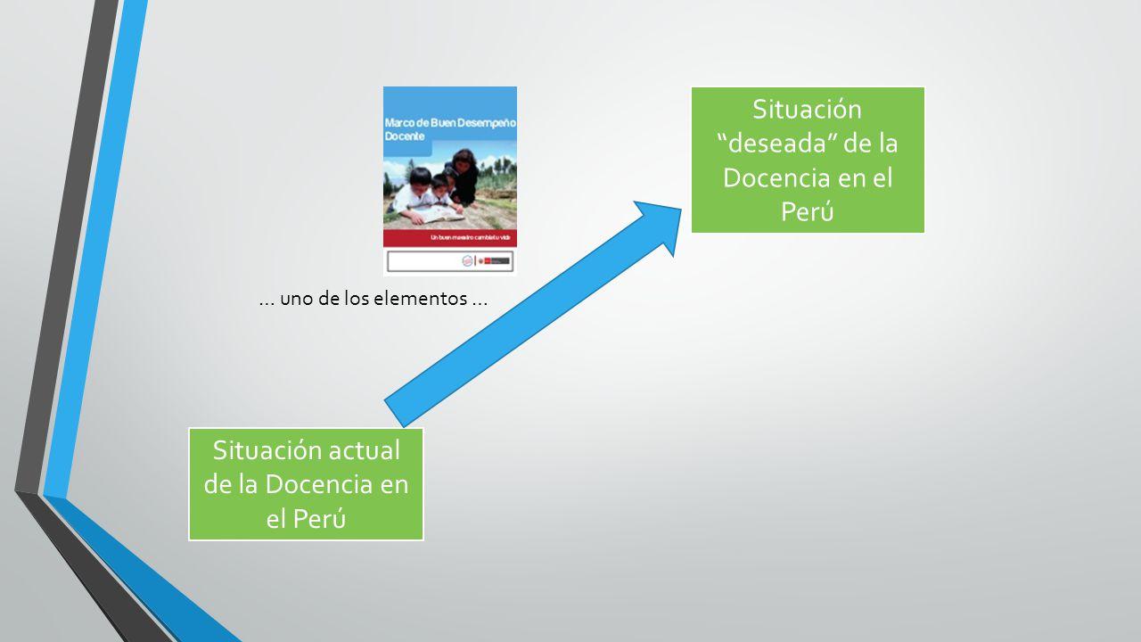 Situación deseada de la Docencia en el Perú