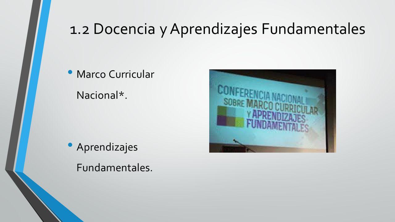 1.2 Docencia y Aprendizajes Fundamentales