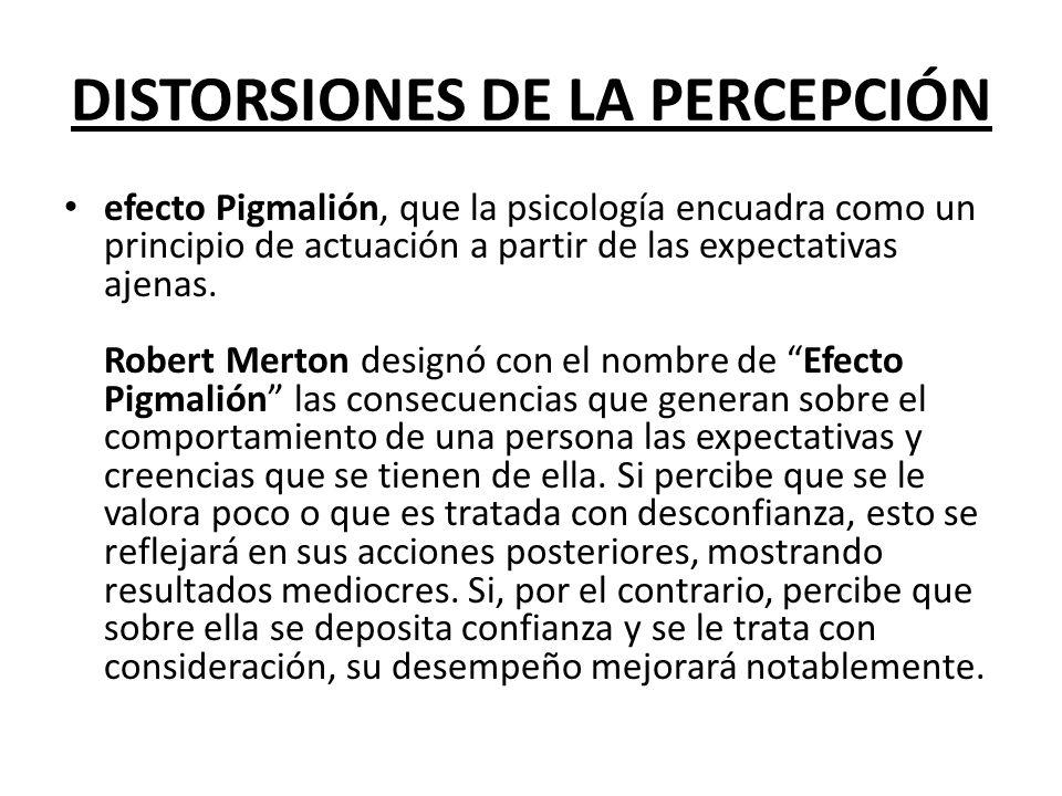 DISTORSIONES DE LA PERCEPCIÓN