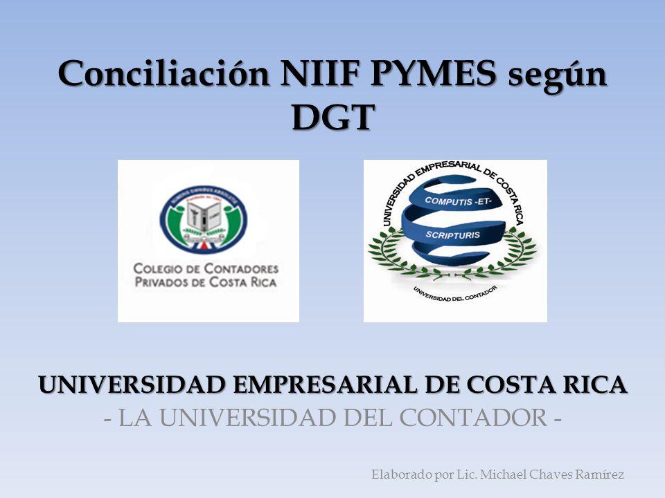 Conciliación NIIF PYMES según DGT