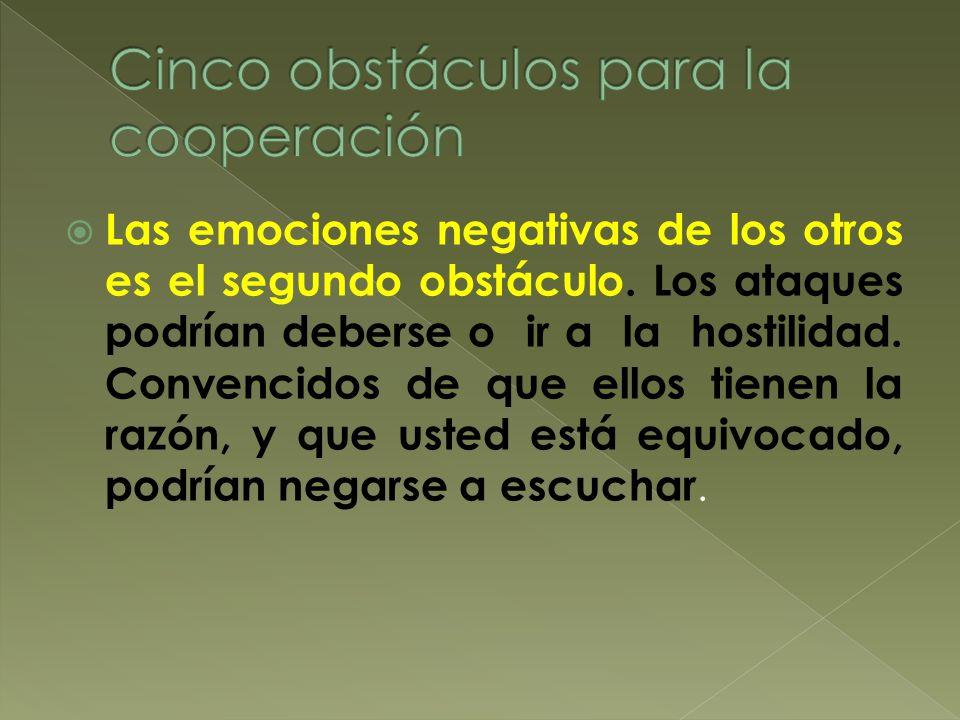 Cinco obstáculos para la cooperación
