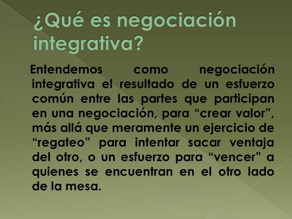 ¿Qué es negociación integrativa