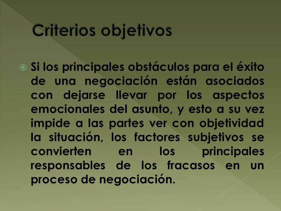 Criterios objetivos