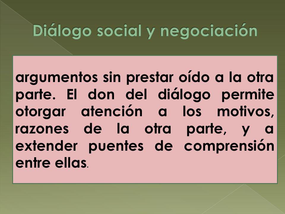 Diálogo social y negociación