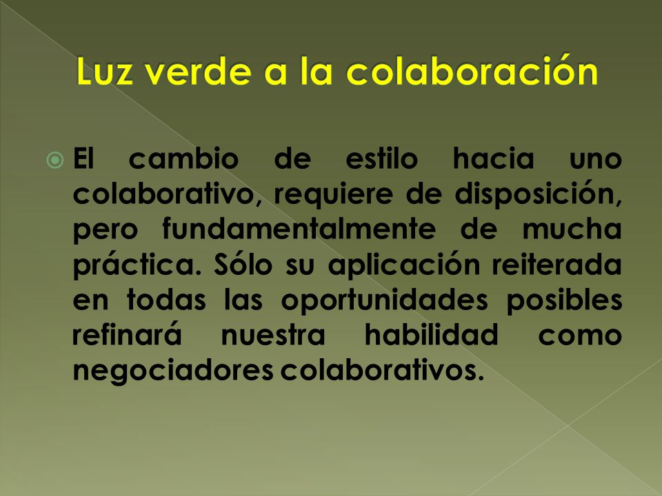 Luz verde a la colaboración
