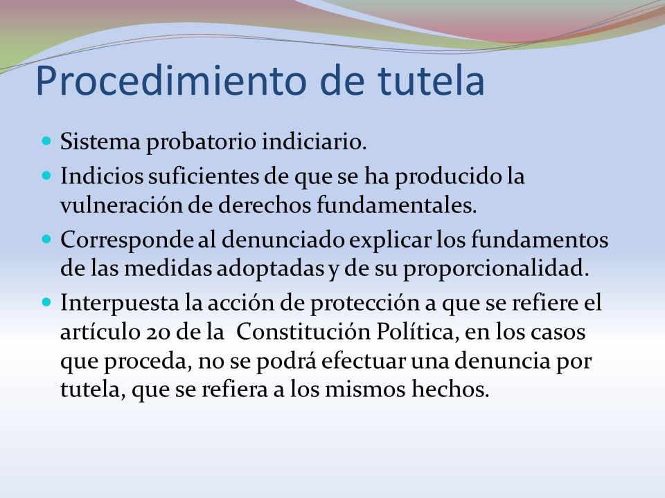 Procedimiento de tutela
