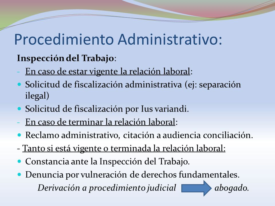 Procedimiento Administrativo: