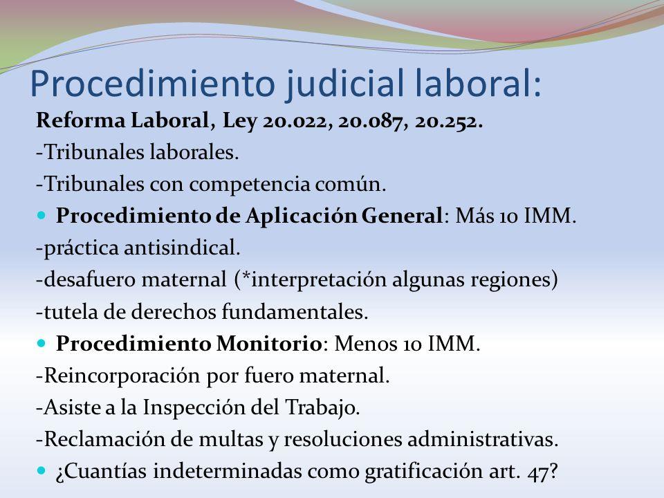 Procedimiento judicial laboral: