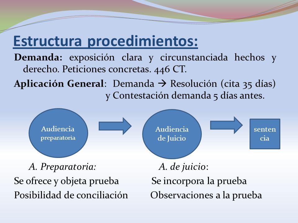 Estructura procedimientos: