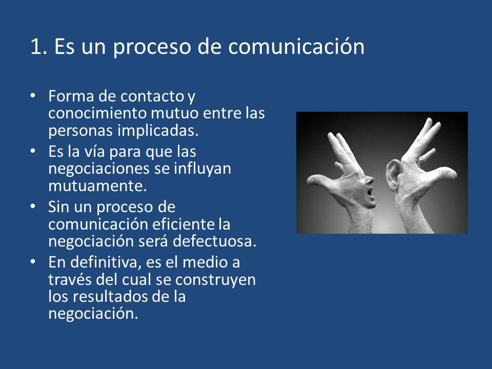 1. Es un proceso de comunicación