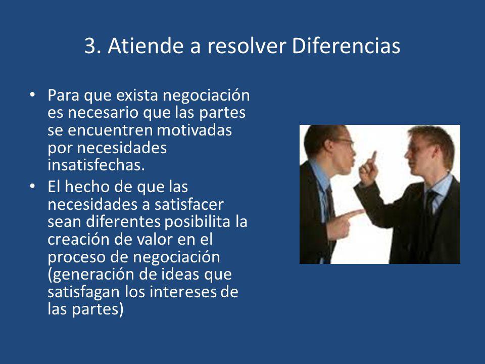 3. Atiende a resolver Diferencias