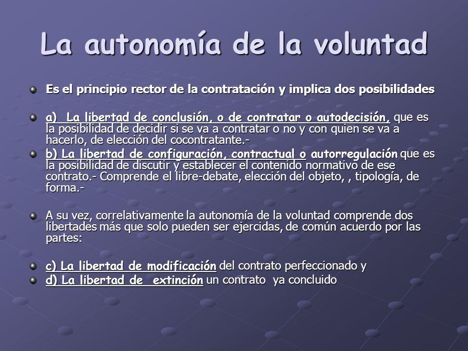 La autonomía de la voluntad