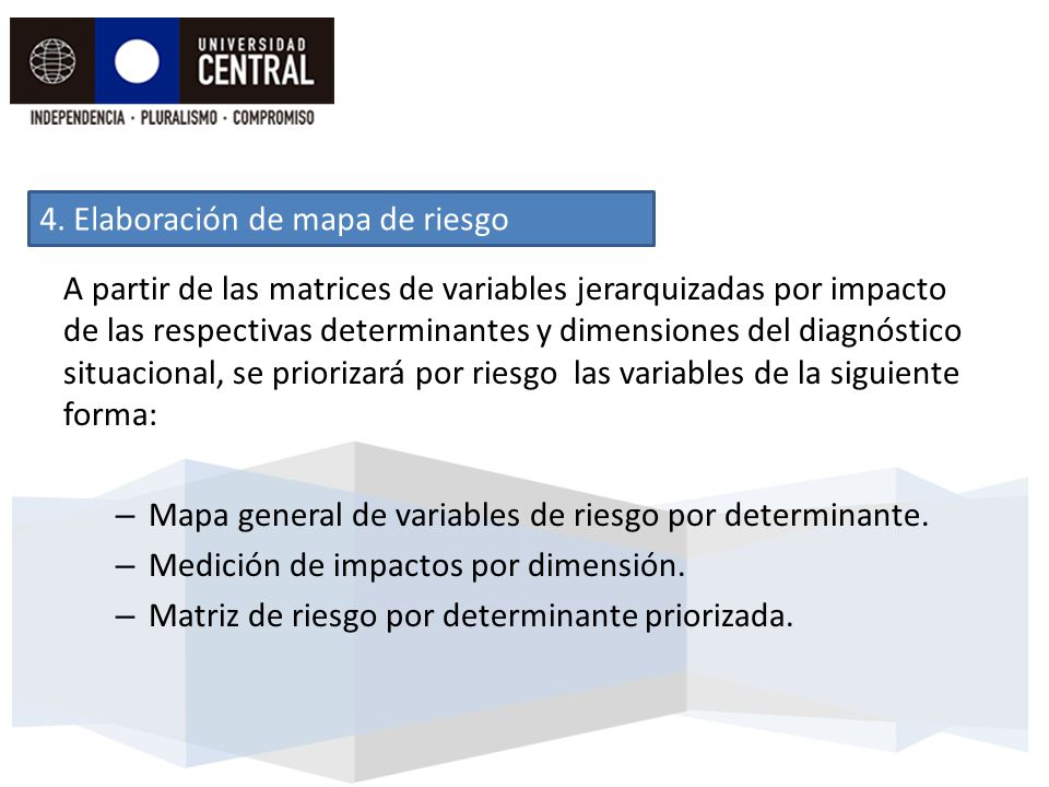 4. Elaboración de mapa de riesgo