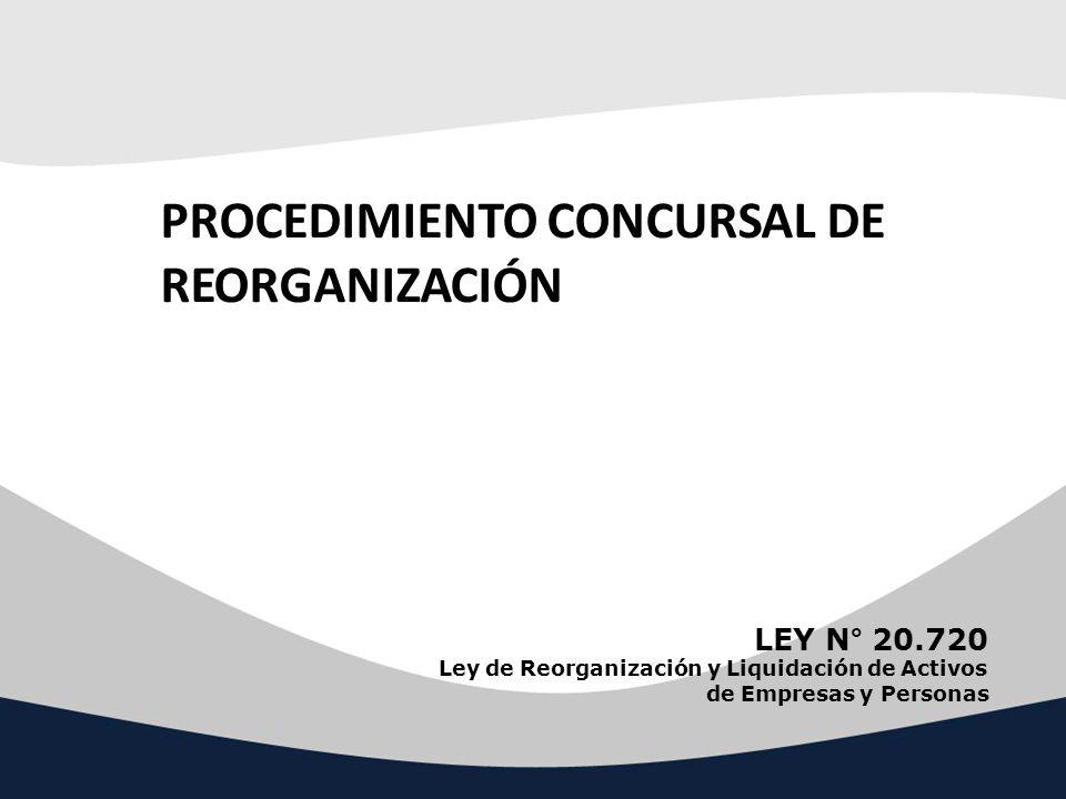 PROCEDIMIENTO CONCURSAL DE REORGANIZACIÓN