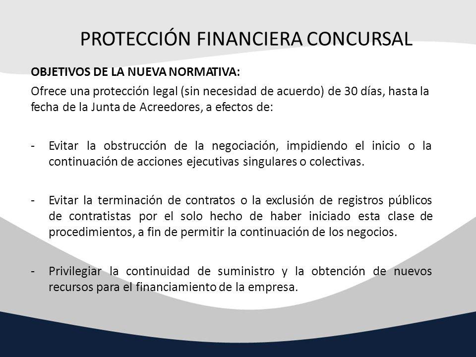 PROTECCIÓN FINANCIERA CONCURSAL