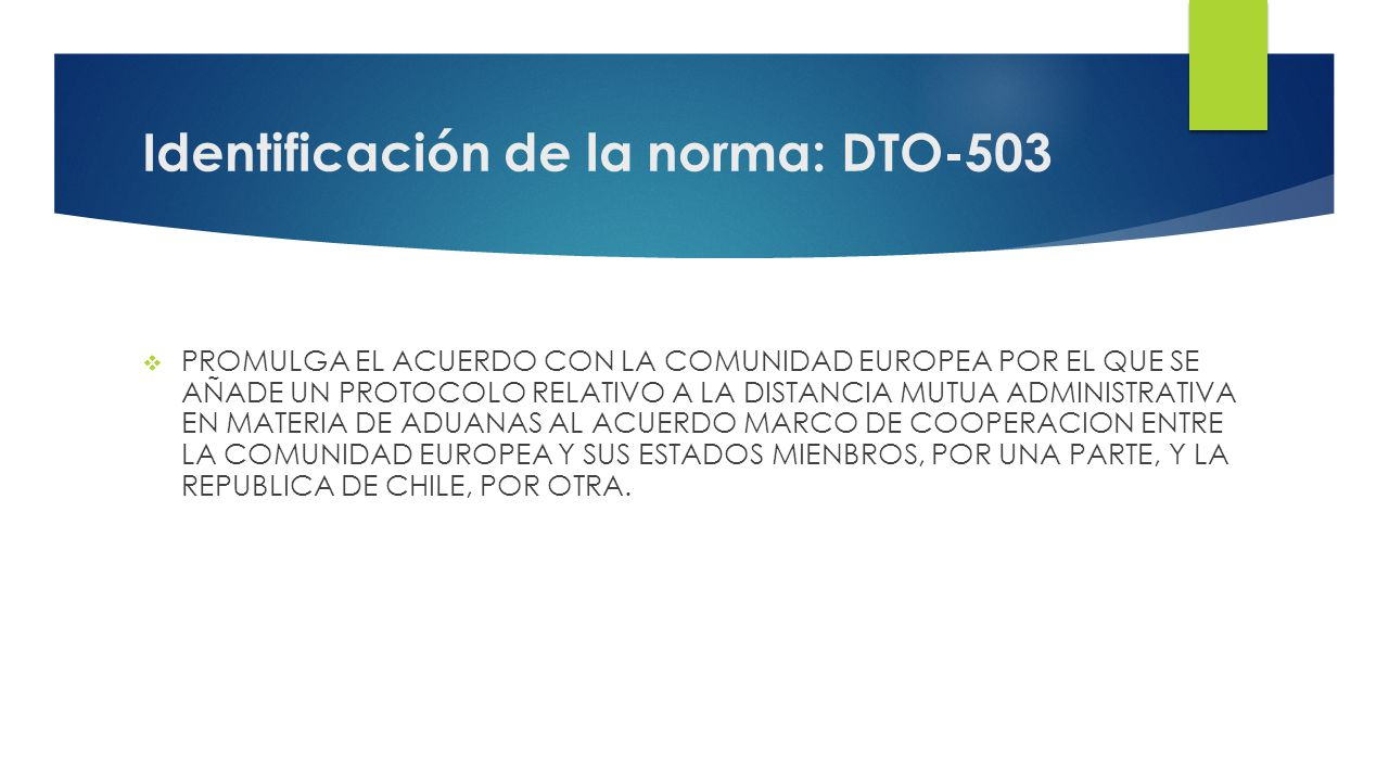 Identificación de la norma: DTO-503