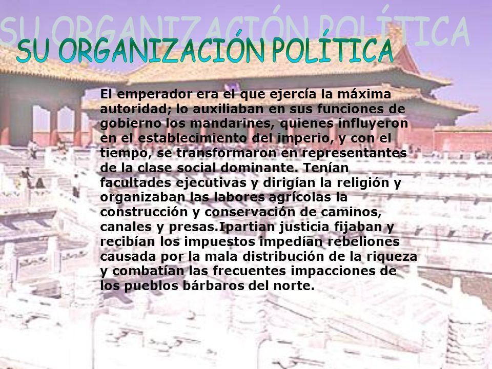 SU ORGANIZACIÓN POLÍTICA