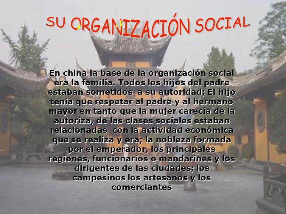 SU ORGANIZACIÓN SOCIAL