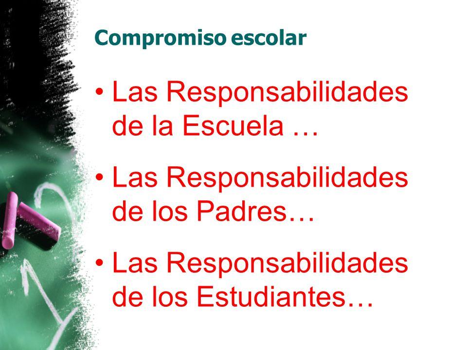 Las Responsabilidades de la Escuela …