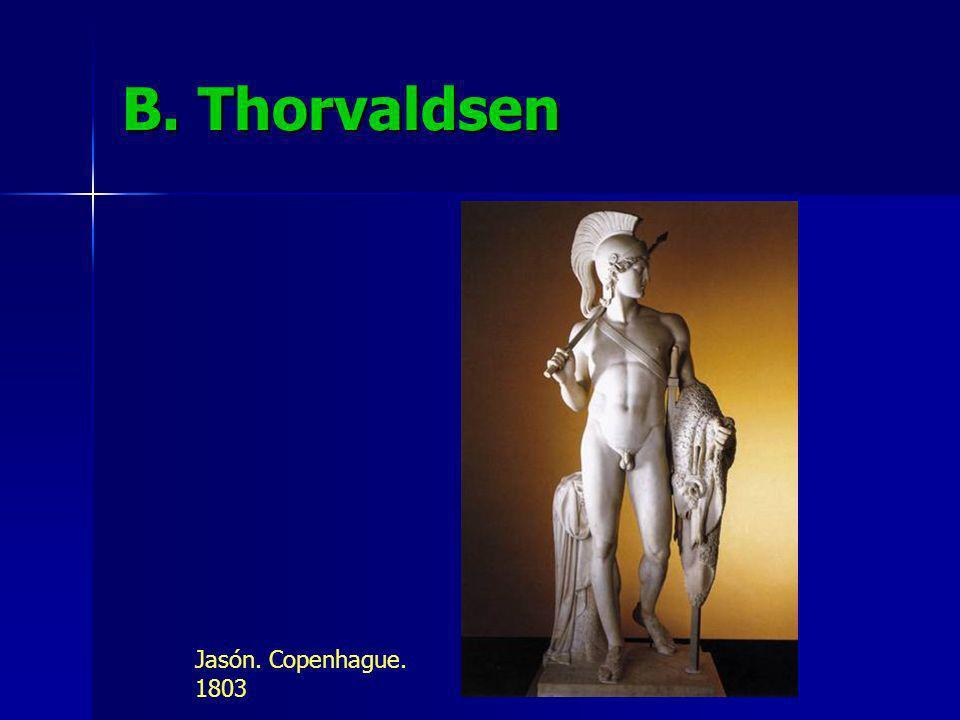 B. Thorvaldsen Jasón. Copenhague. 1803