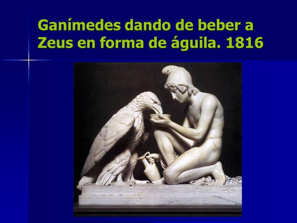 Ganímedes dando de beber a Zeus en forma de águila. 1816