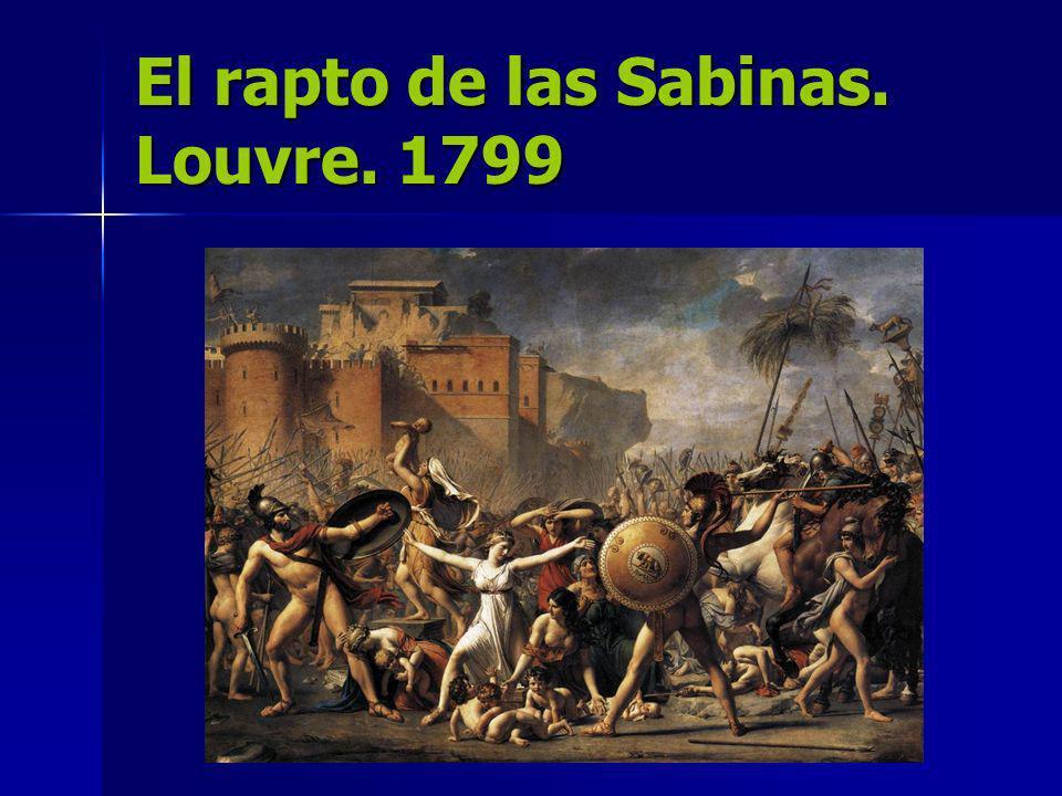 El rapto de las Sabinas. Louvre. 1799