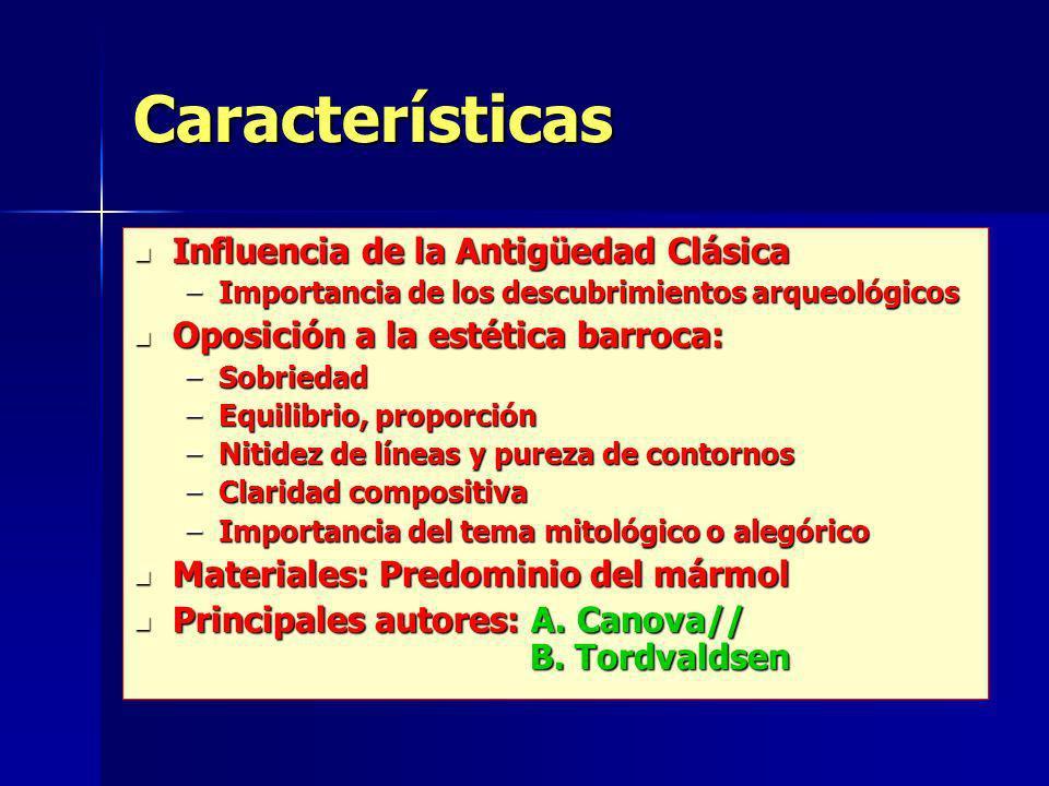 Características Influencia de la Antigüedad Clásica
