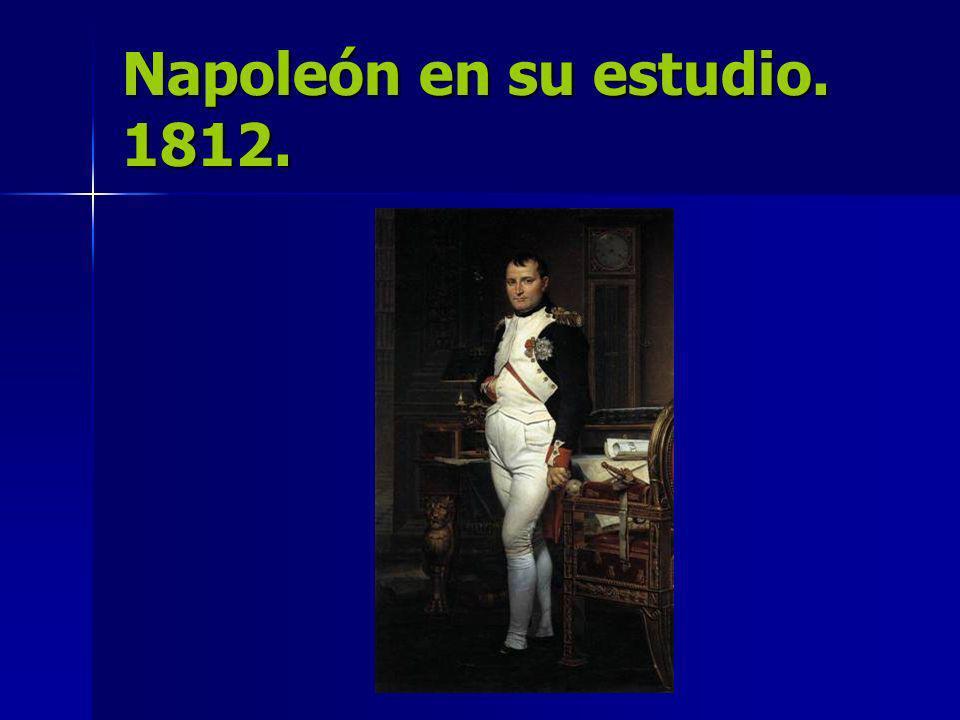 Napoleón en su estudio. 1812.