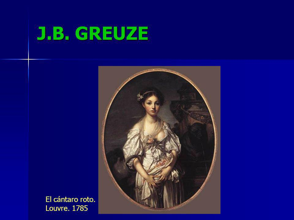 J.B. GREUZE El cántaro roto. Louvre. 1785