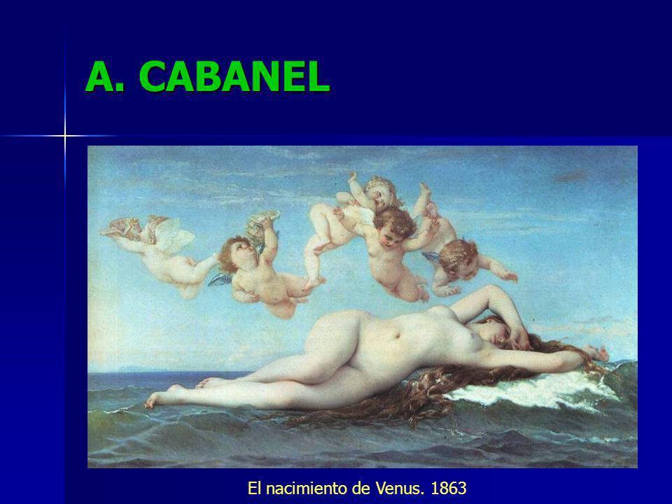 A. CABANEL El nacimiento de Venus. 1863