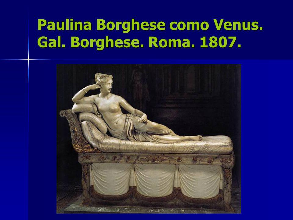 Paulina Borghese como Venus. Gal. Borghese. Roma. 1807.