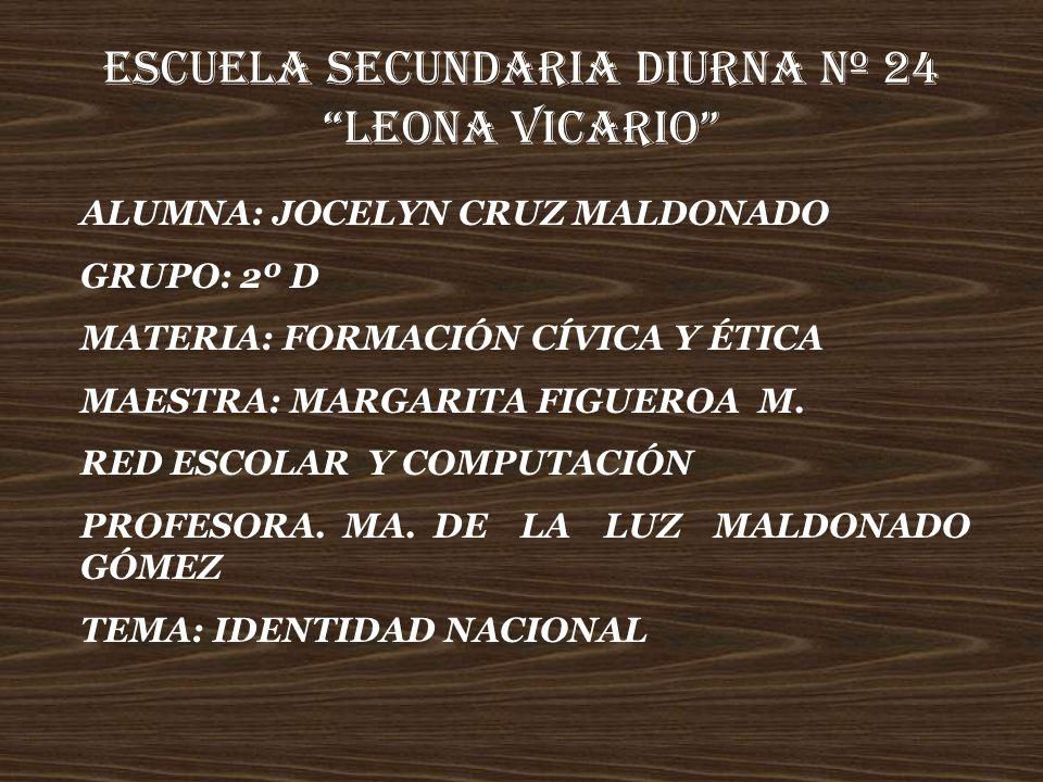 ESCUELA SECUNDARIA DIURNA Nº 24 LEONA VICARIO