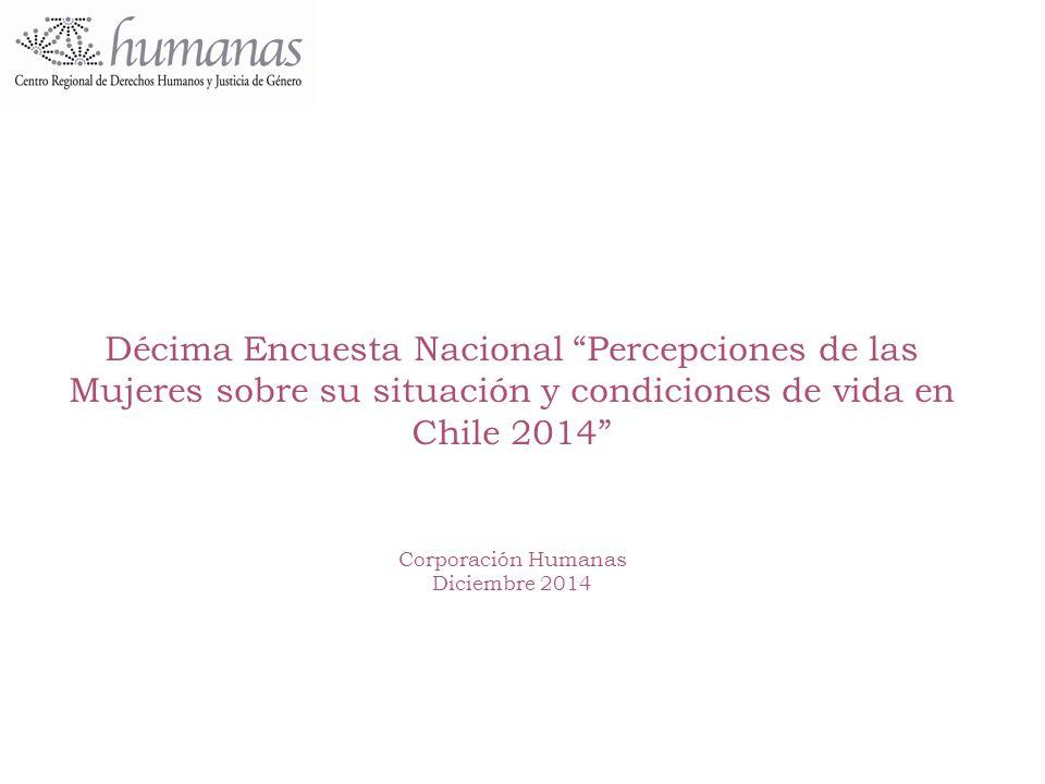 Décima Encuesta Nacional Percepciones de las Mujeres sobre su situación y condiciones de vida en Chile 2014 Corporación Humanas Diciembre 2014
