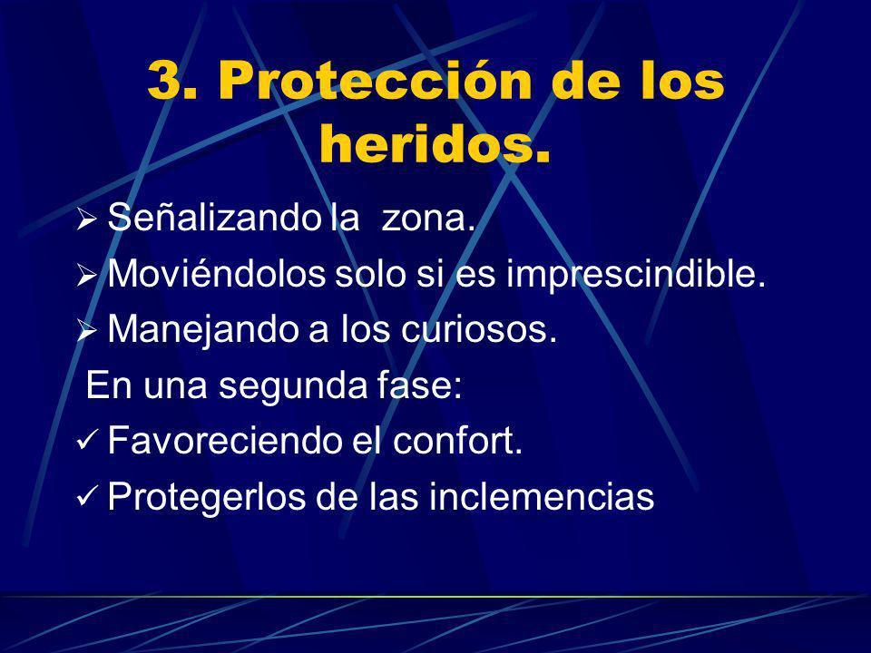 3. Protección de los heridos.