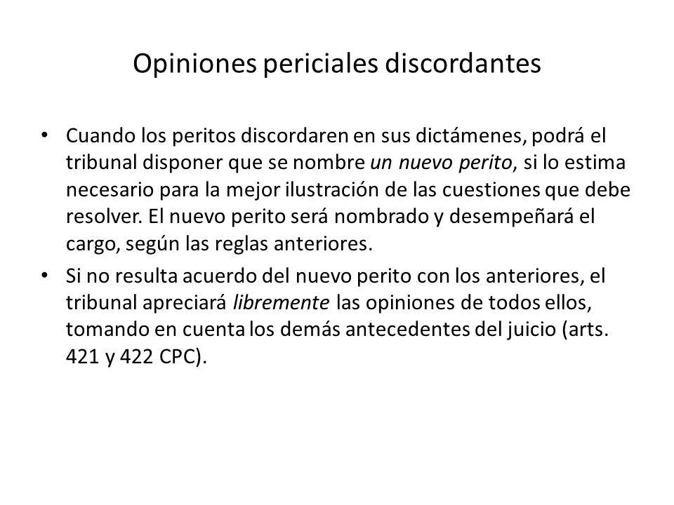 Opiniones periciales discordantes